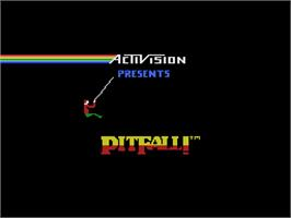 Title screen of Pitfall on the Coleco Vision.
