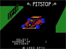 Title screen of Pitstop on the Coleco Vision.