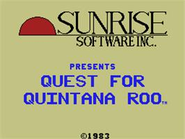 Title screen of Quest for Quintana Roo on the Coleco Vision.