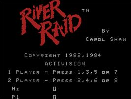 Title screen of River Raid on the Coleco Vision.