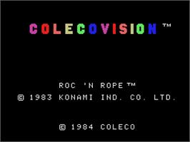 Title screen of Roc'n Rope on the Coleco Vision.