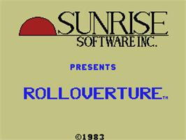 Title screen of Rolloverture on the Coleco Vision.