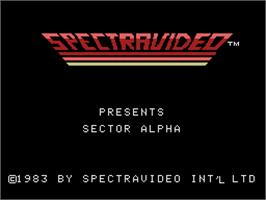 Title screen of Sector Alpha on the Coleco Vision.