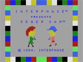 Title screen of Sewer Sam on the Coleco Vision.