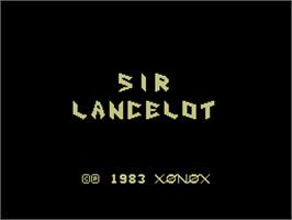 Title screen of Sir Lancelot on the Coleco Vision.