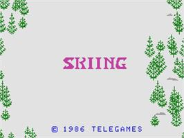 Title screen of Skiing on the Coleco Vision.