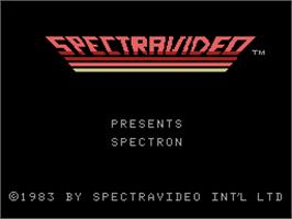 Title screen of Spectron on the Coleco Vision.