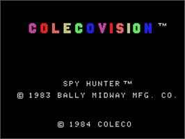 Title screen of Spy Hunter on the Coleco Vision.