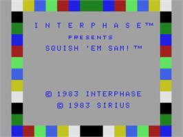 Title screen of Squish 'em Sam on the Coleco Vision.