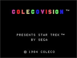 Title screen of Star Trek Strategic Operations Simulator on the Coleco Vision.