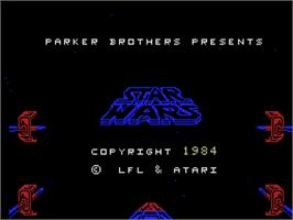 Title screen of Star Wars Arcade on the Coleco Vision.