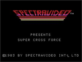 Title screen of Super Cross Force on the Coleco Vision.