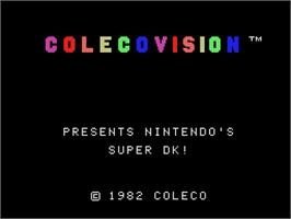 Title screen of Super DK on the Coleco Vision.