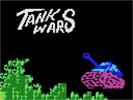 Title screen of Tank Wars on the Coleco Vision.