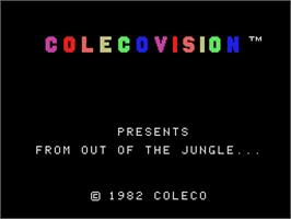 Title screen of Tarzan: From Out Of The Jungle... on the Coleco Vision.