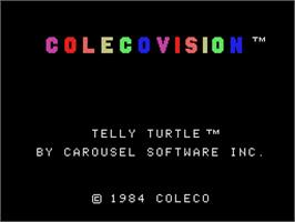 Title screen of Telly Turtle on the Coleco Vision.