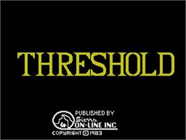 Title screen of Threshold on the Coleco Vision.