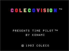Title screen of Time Pilot on the Coleco Vision.