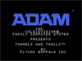 Title screen of Tunnels & Trolls: Demo on the Coleco Vision.