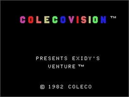 Title screen of Venture on the Coleco Vision.