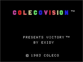 Title screen of Victory on the Coleco Vision.