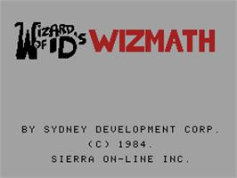 Title screen of Wizard of Id's Wizmath on the Coleco Vision.