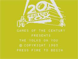 Title screen of Yolk's on You on the Coleco Vision.