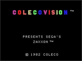 Title screen of Zaxxon on the Coleco Vision.
