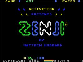 Title screen of Zenji on the Coleco Vision.