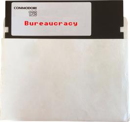 Artwork on the Disc for Bureaucracy on the Commodore 128.