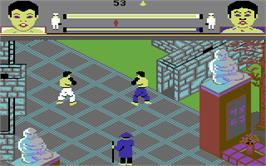 In game image of Thai Boxing on the Commodore 128.