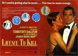 Advert for 007: Licence to Kill on the Commodore 64.