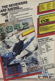 Advert for 1942 on the Commodore 64.
