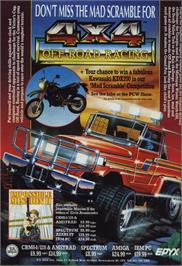 Advert for 4x4 Off-Road Racing on the MSX 2.