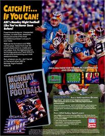 Advert for ABC Monday Night Football on the Nintendo SNES.