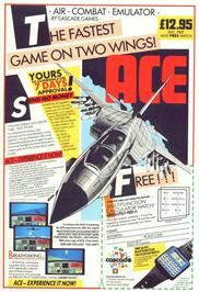 Advert for Ace 2: The Ultimate Head to Head Conflict on the Commodore 64.