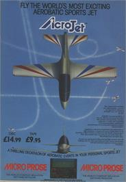 Advert for Acrojet on the Commodore 64.