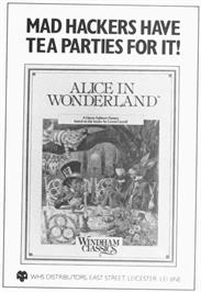 Advert for Alice in Wonderland on the Nintendo Wii.