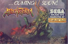 Advert for Alien Storm on the Commodore 64.