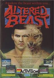 Advert for Altered Beast on the Commodore 64.