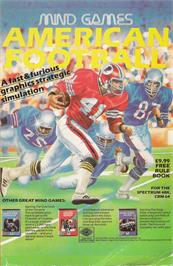 Advert for American Football on the Commodore 64.