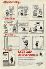 Advert for Andy Capp: The Game on the Commodore 64.