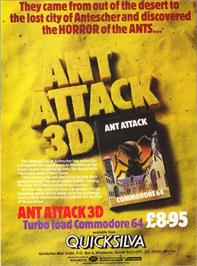 Advert for Ant Attack on the Commodore 64.