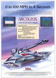 Advert for Arcticfox on the Commodore Amiga.