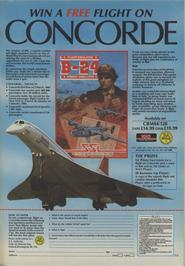 Advert for B-24 Combat Simulator on the Commodore 64.