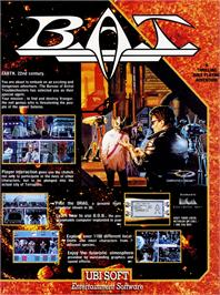Advert for B.A.T. on the Commodore 64.