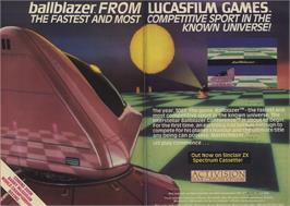 Advert for Ballblazer on the Commodore 64.