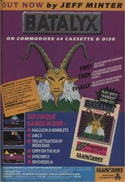Advert for Batalyx on the Commodore 64.