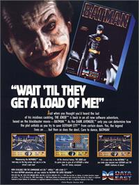 Advert for Batman: The Caped Crusader on the Commodore 64.
