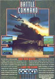 Advert for Battle Command on the Commodore 64.